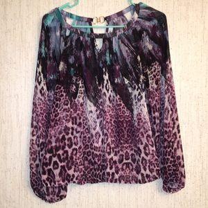 Jennifer Lopez thin patterned blouse size small